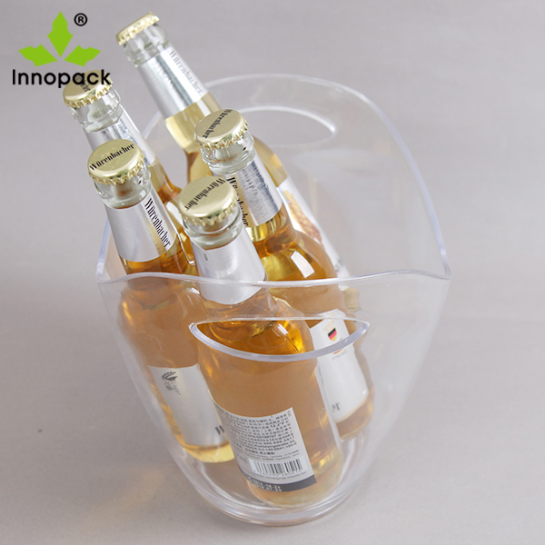 5 Bottles 330ml Beer Packaging 8 Liter Clear Plastic Ice Bucket - Buy  Plastic Ice Bucket,Plastic Beer Ice Bucket,Clear Plastic Ice Bucket Product  on