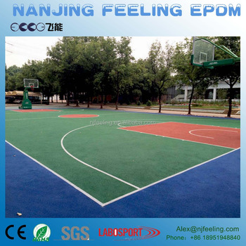 Spongy Colored Epdm Rubber Granules For Basketball Court Volleyball - Spongy outdoor flooring