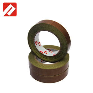 Free Sample 0.18mm Single coated silicone adhesive 260C brown teflons fiberglass tape
