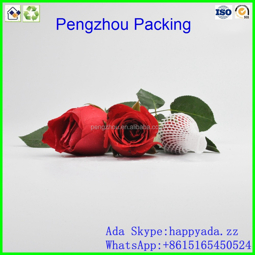 High quality rose bud protective packaging <strong>netting</strong> / flowers protection net (factory & export)