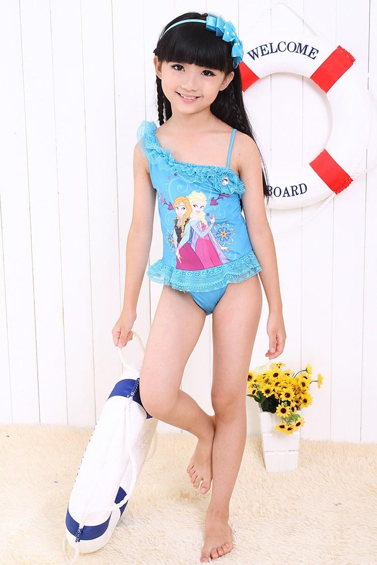 50fac15b6c 2019 2015 New Frozen Elsa Anna Swimwear Children Kids Clothes ...