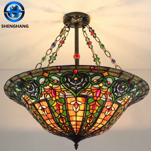 Tiffany ceiling light /china made pendent lamp wholesale for christmas decorating