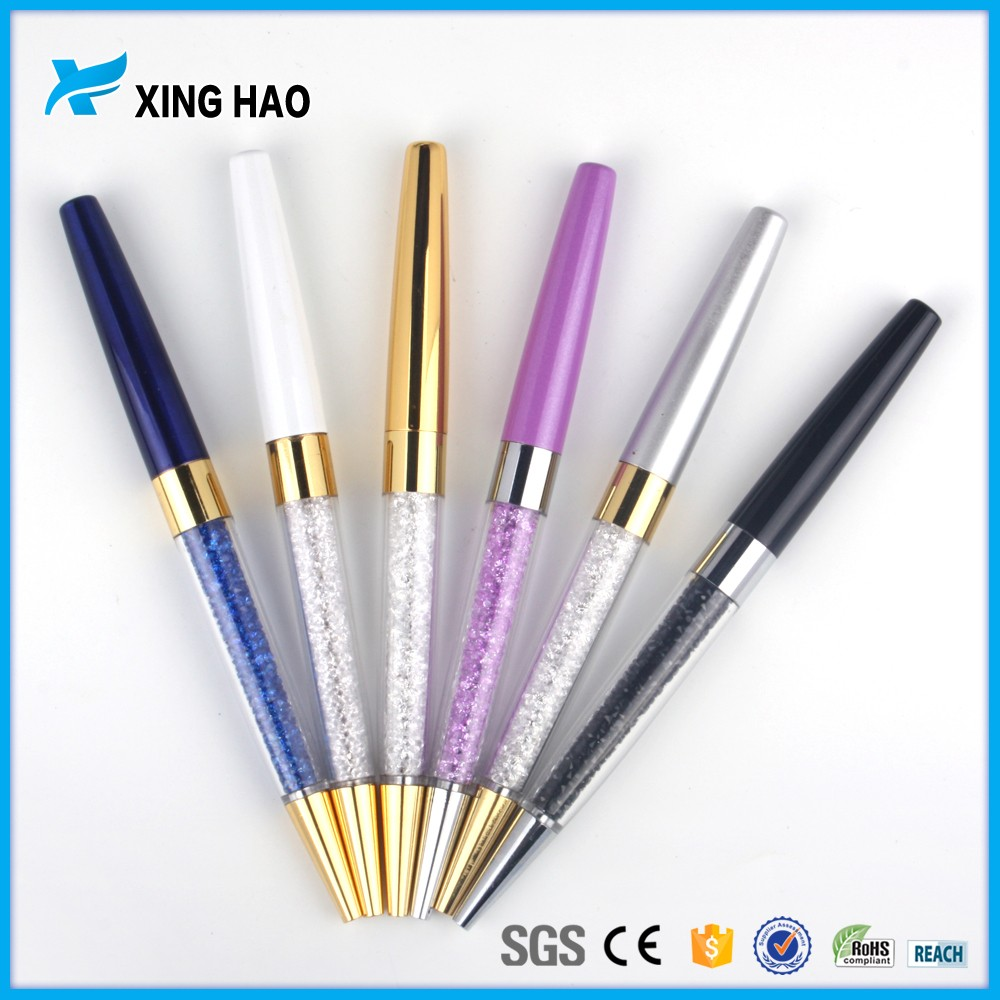 Xinghao New promotional exquisite pen metal rhinestone can twist pen click pen for sign