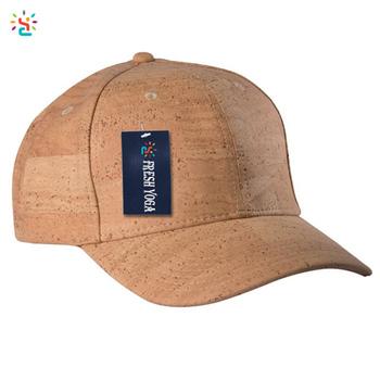 Curved brim cork hat blank 6 panel baseball cap unisex hip hop hat with  adjustable strap 6bac6b7c585