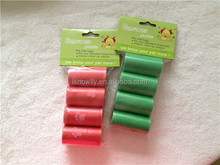 Hot selling high quality dog shit bags Dog pick up bags on roll with fragrance pet poop bag