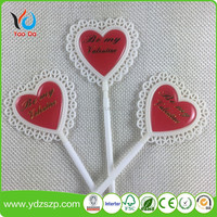 Wedding Use and valentines party decoration, epoxy Material wedding cake topper