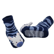 GSBT-13 Factory custom high qulity stiped design full terry carton infant baby toy rattle socks