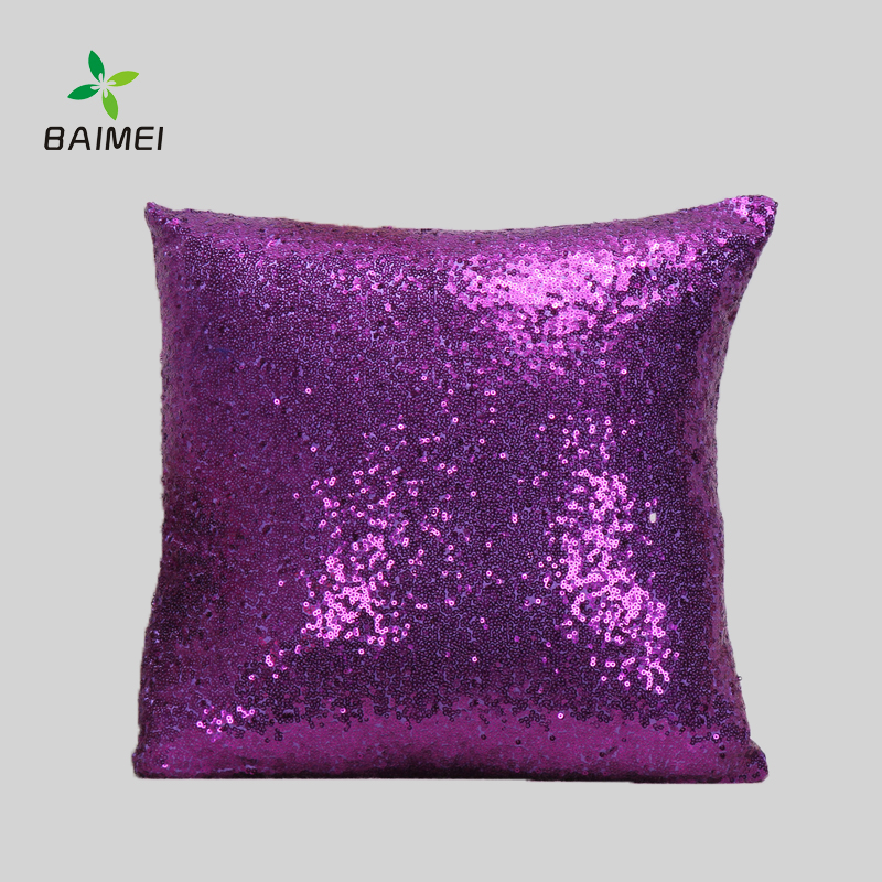 Custom Throw Pillow Cushion Cover Best Choice 40x40cm-sequined pillow cover ,Designer Pillow