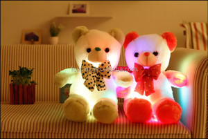 HI CE hottest valentine giant led teddy bear amazing night light plush toy for sale