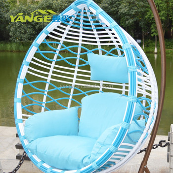 Bule Ans White Big Round Rattan Hanging Chairoutdoor Swings For