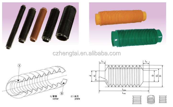 Hengtai machine round dust covers rubber bellows bellow