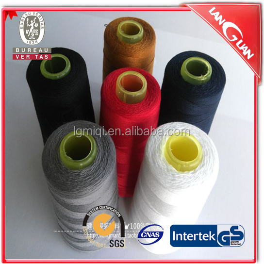 20/3 20/2 jeans 100% spun polyester sewing thread