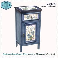 Wooden Blue Flower Cabinet Buy From Stores Online Chinese Furniture Antique