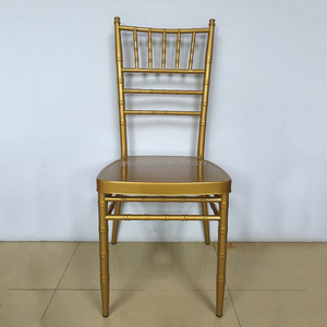 Golden Wedding Banquet metal chair, Stackable Metal Chiavari Tiffany Chair
