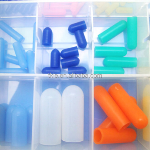 Silicone rubber end cap,color and size can be customized