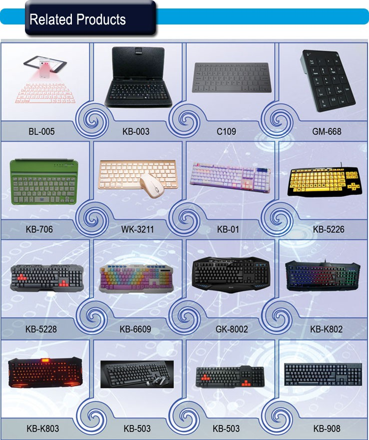 Professional Manufacturer High Quality Classic Black Wireless Mouse and Keyboard Combo