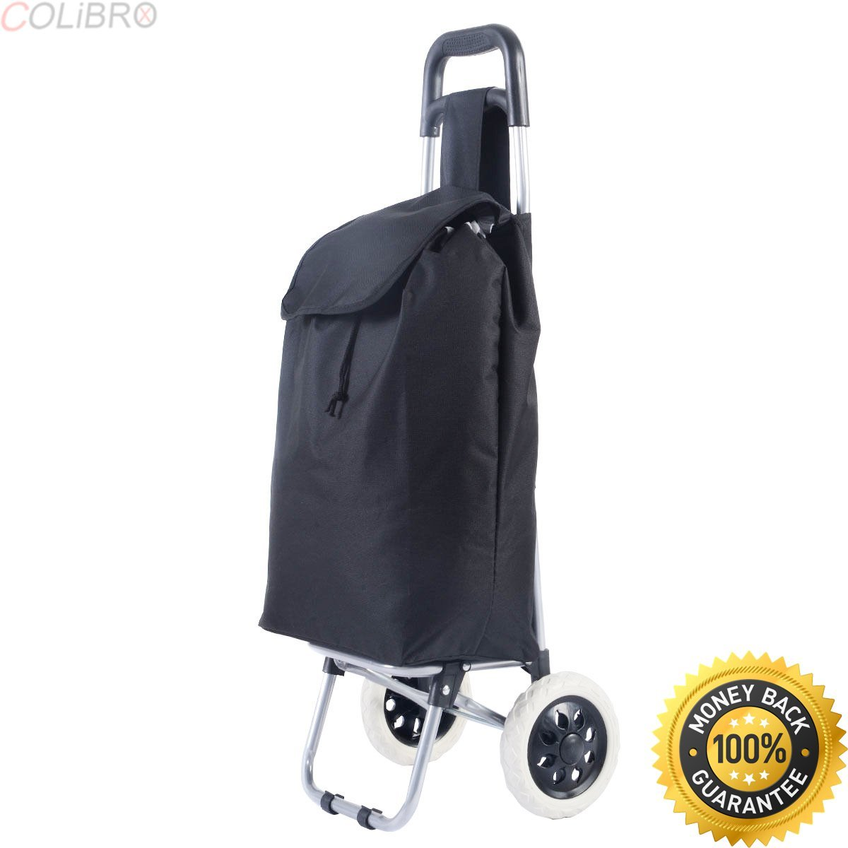 COLIBROX--Black Large Capacity Light Weight Wheeled Shopping Trolley Push Cart Bag New. best golf bag for push cart 2017. ogio cirrus stand bag. bag boy push cart.clicgear parts. golf clubs for sale.