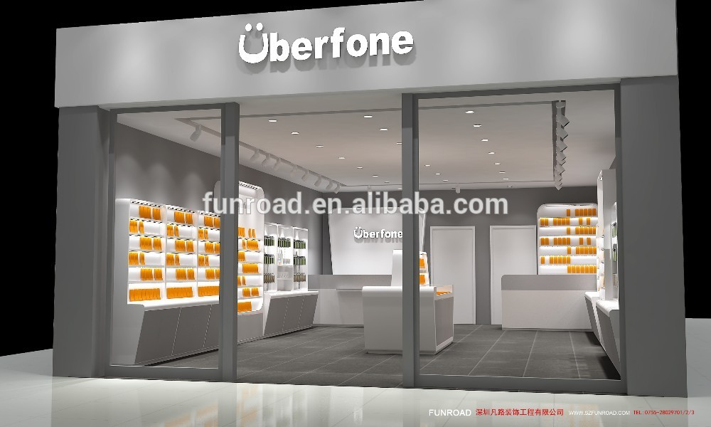 Modern Mobile phone shop interior design with free design for ...