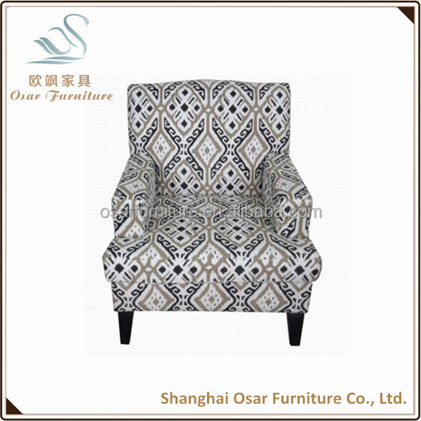 Cheap One Seat Single Wooden Sofa With Flower Printed