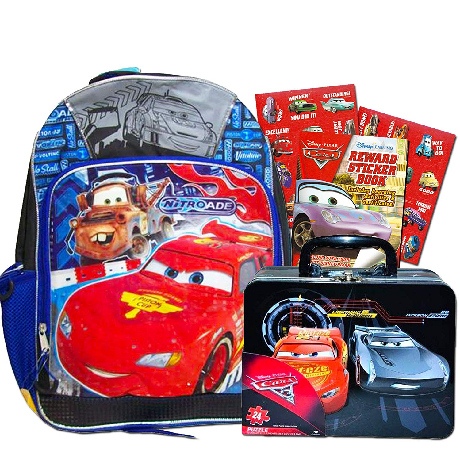 8077cf9b6a6 Disney Cars Backpack with Lunch Box (16