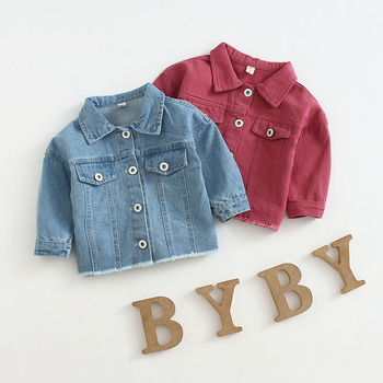 Spring and Autumn Baby Girls Denim Jackets Coats  Fashion Children Outwear Coat Kids Girls Casual Jacket