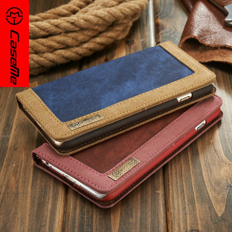 2016 Smart Accessaries Leather Phone Case for iPhone6, for iPhone 6s Cell Phone Cover With 3 Credit Cards