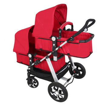 Multifunctional double baby stroller fabric twin baby carriage in Amazon