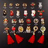 New 3d Nail Charms Nail Art Design Point Back Different Shape Red Jewelry Nail Tips Rhinestones