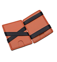 Slim Minimalist Custom Private Logo Wallet with Money Clip Front Pocket Men Magic Wallet
