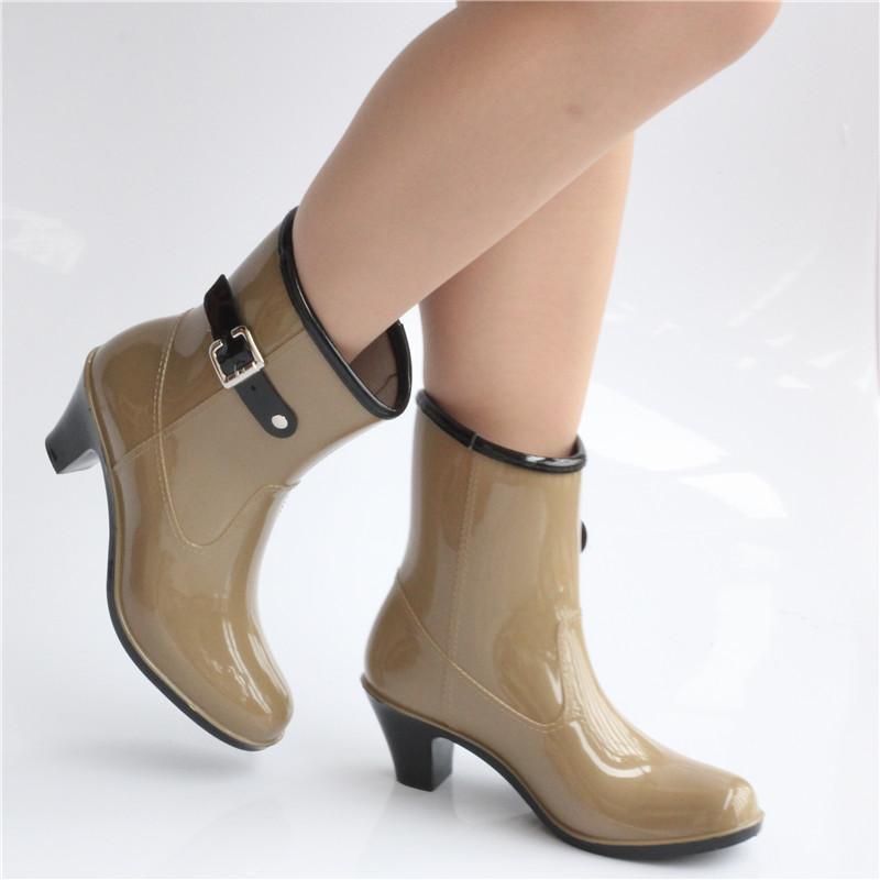 8980dfb503c botas de lluvia para mujer con taco
