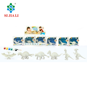 Kids educational toys DIY painting vinyl dinosaur toys for sale