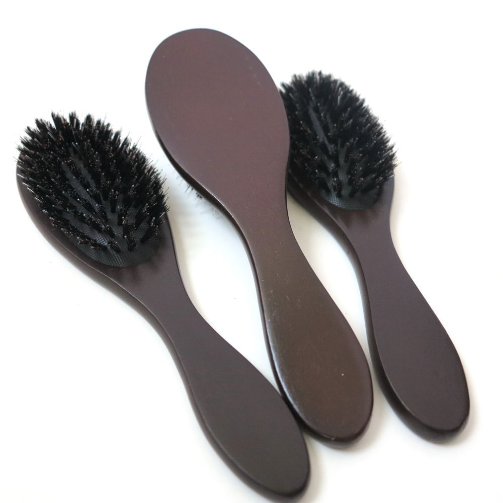 Harmony wooden boar bristle hair brush for hair extension