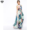 Latest new customized design frock modern printed women gaon dress