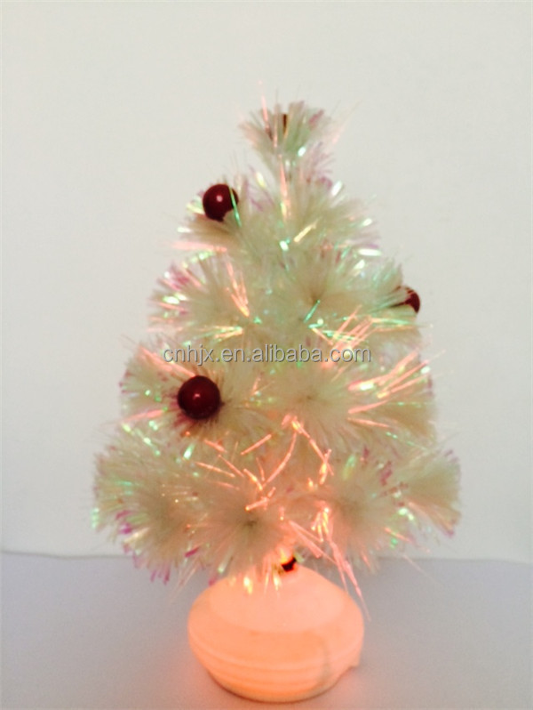 Mini Led Artifical Glasvezel Kerstboom Kerstboom Verlichting,Wit ...