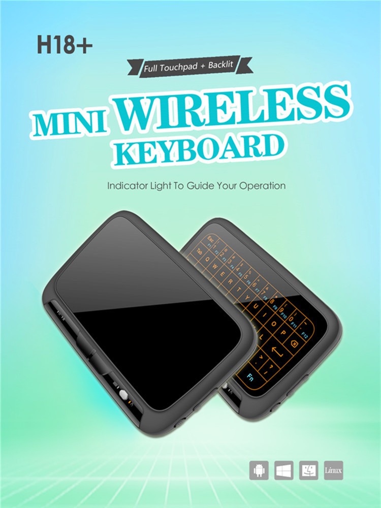 keyboard shenzhen H18+ backlit Touchpad wireless keyboard User Manual