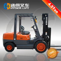 engineering plastic diesel forklift 4.5t trucks for sale with Janpanese engine