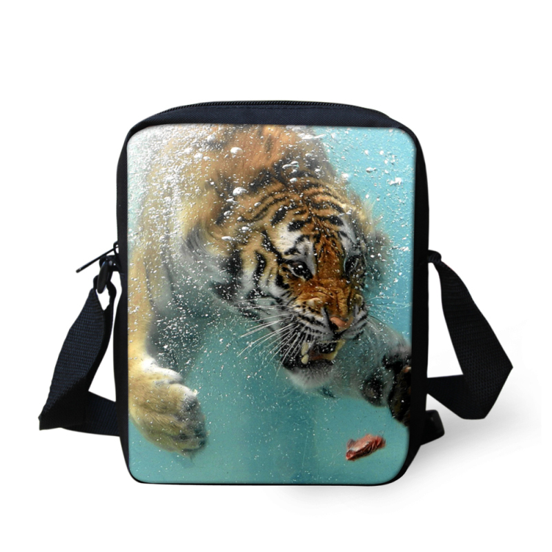 42685943cd Get Quotations · Hot Trendy Small Men Messenger Bag Cool Animal Tiger Print  Children Crossboby Bags Kids Desigual Shoulder