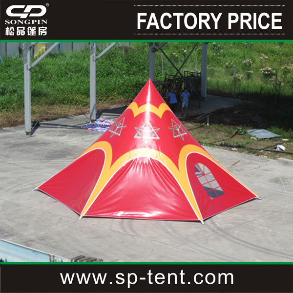 Wholesale unique red star shape tent with aluminum pole for sale