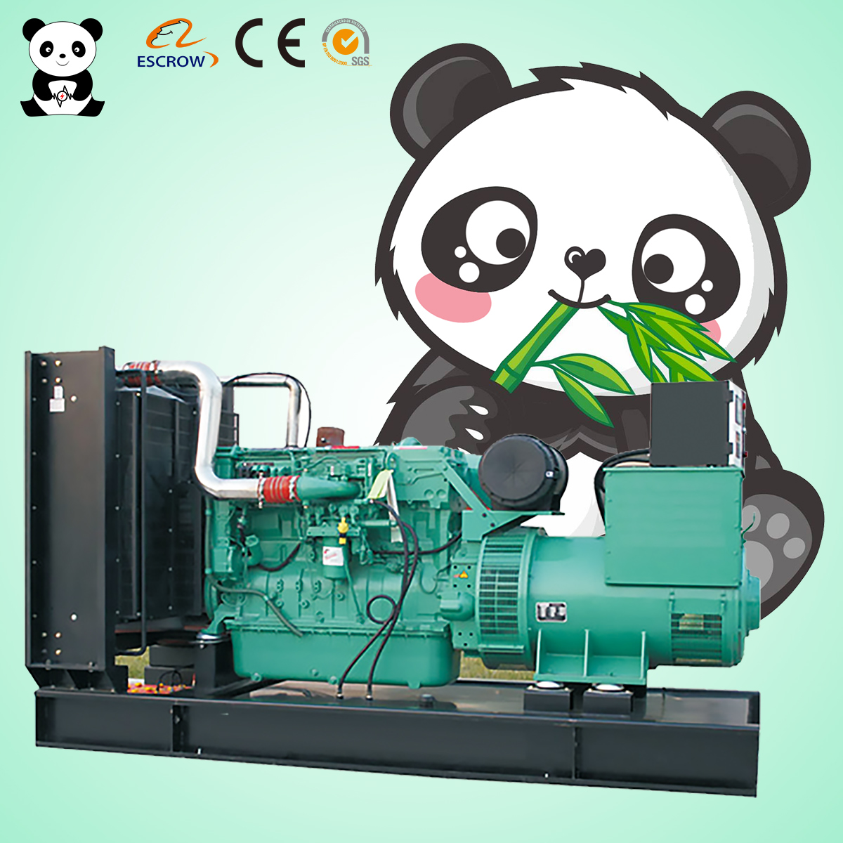 20kw <strong>diesel</strong> generator sets Panda Spare/Standby Water air cooled 25 kva generator sets welder factory price customizable