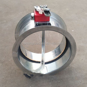 Galvanized steel round motorized fire damper for air conditioning