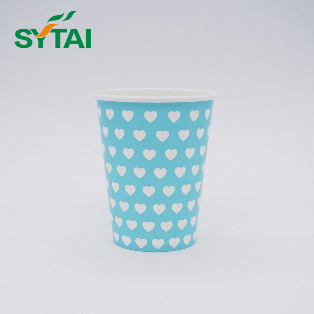 Disposable custom logo coffee or tea paper cup