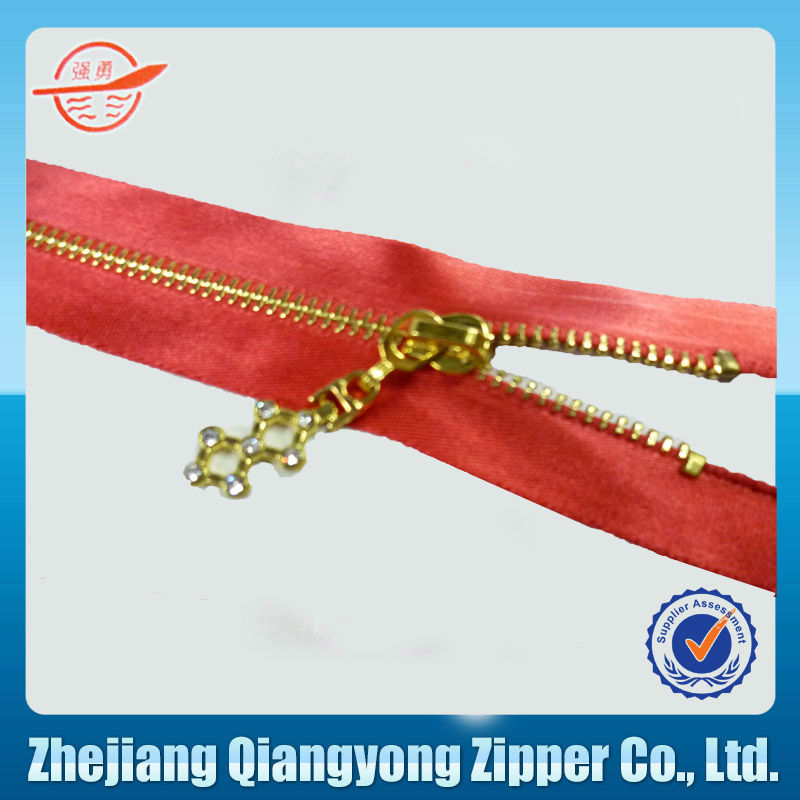 5# open end highly polished metal zipper