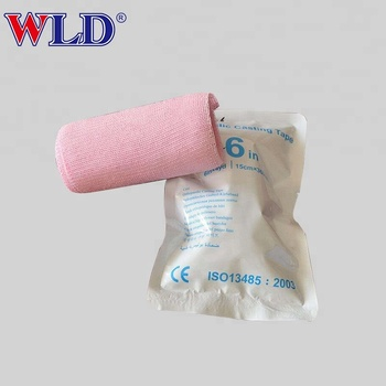 Disposable medical orthopedic casting tape with certificate
