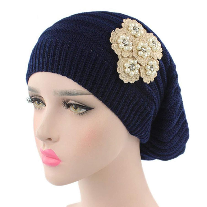 646530b2e6d49 Fabal Women Chiffon Ruffle Cancer Chemo Hat Beanie Scarf Turban Head Wrap  Cap
