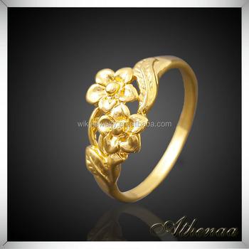 Flower Shape Women Wedding Ring Copper New Design Gold Finger Ring