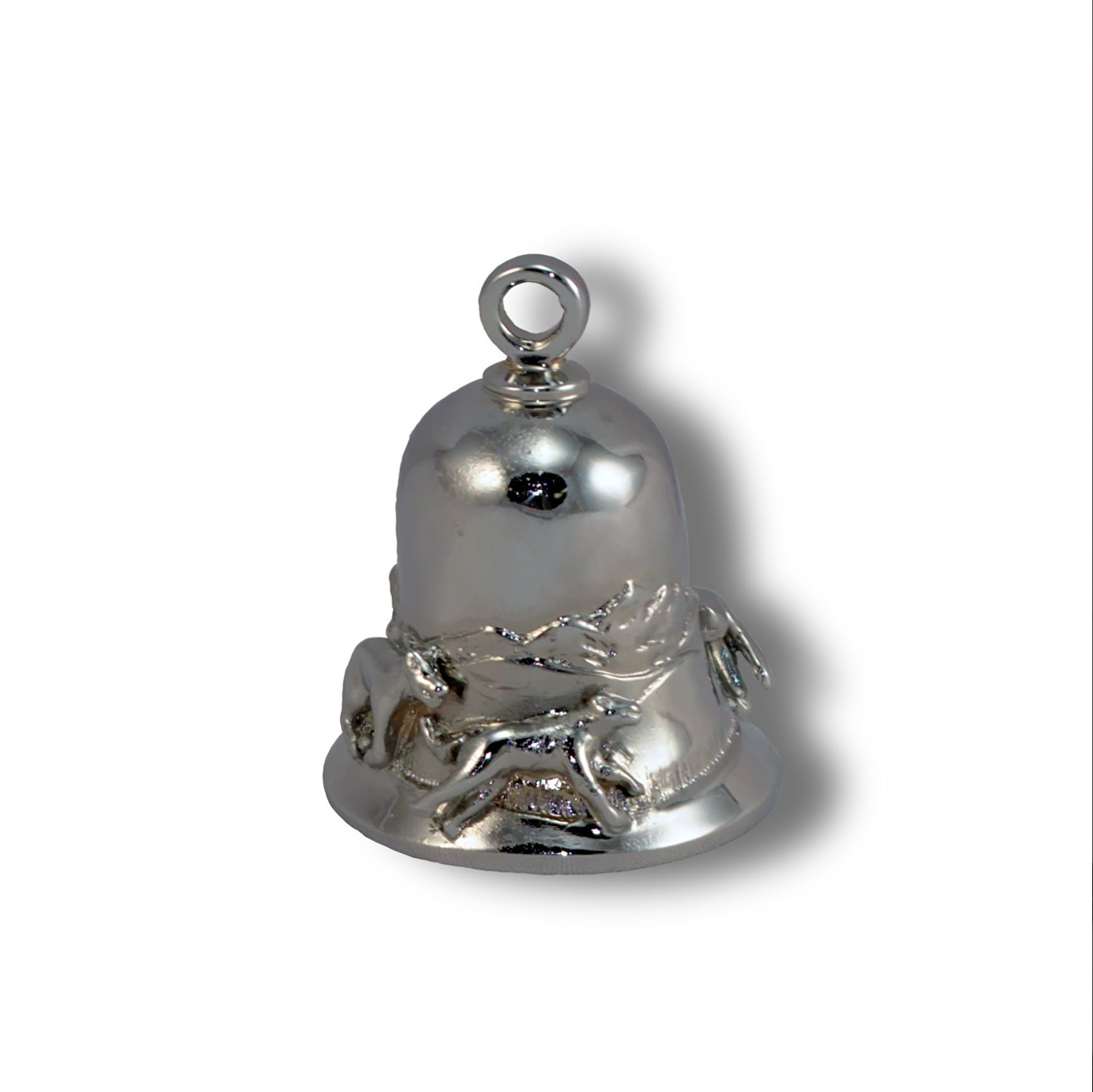 Wolf Pack, Chrome Plated Brass Ride Bell #CB22