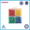 BSCI approved China factory assorted 320pcs colorful plastic head push pin