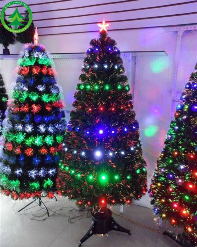 Wholesale 210CM 4 kinds of color lights fiber optic christmas tree ...
