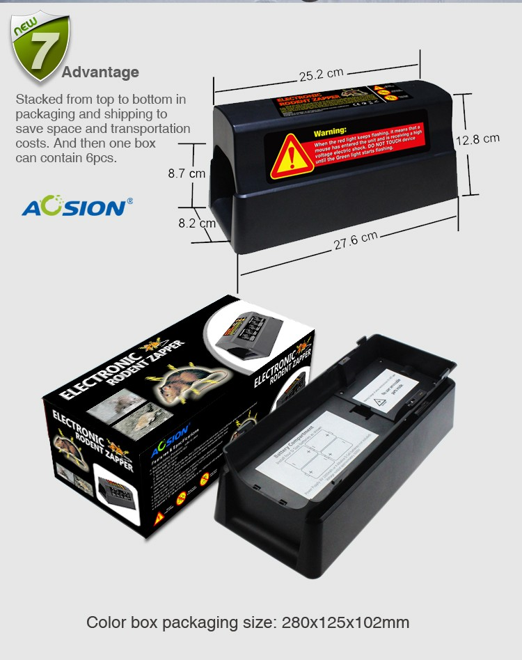AN-C555 Safe and Effective Smart Sensor Electronic Rodent Zapper for Outdoor&Indoor Use Non-poisonous