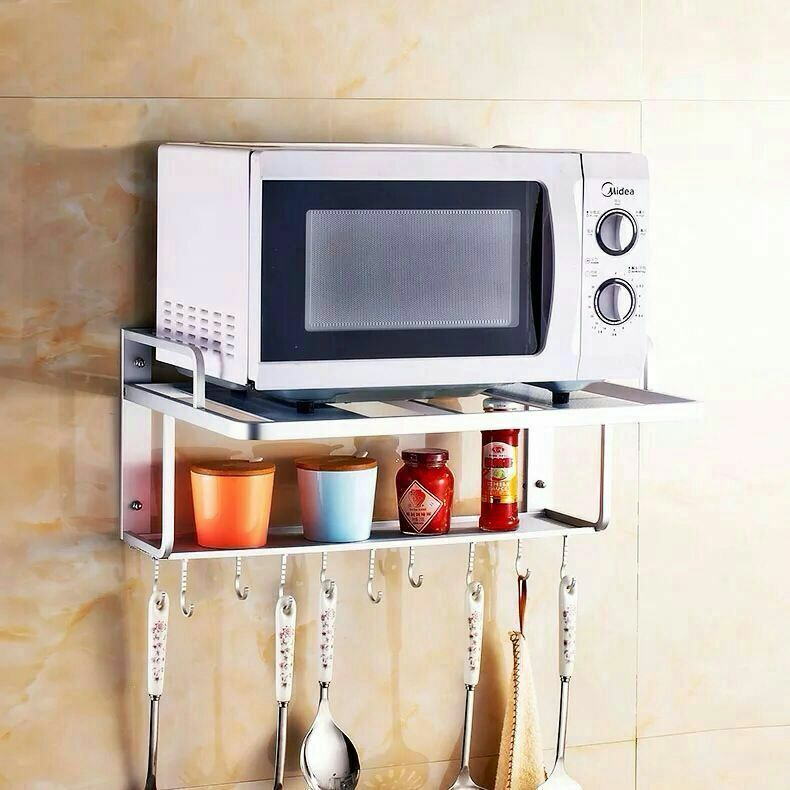 Wall Mounted Microwave Oven Holder Rack Kitchen Holders and Racks